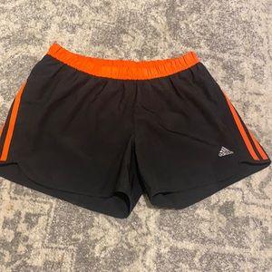 WOMENS Adidas Black Orange Active Shorts 10